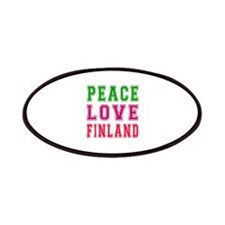Peace Love Finland Patches
