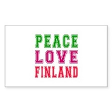 Peace Love Finland Decal