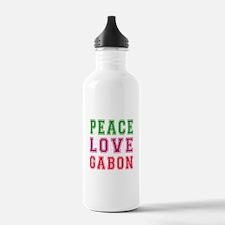 Peace Love Gabon Water Bottle