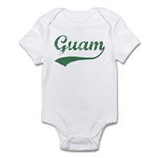 Vintage Guam (Green) Infant Bodysuit