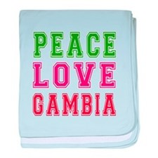 Peace Love Gambia baby blanket