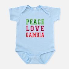 Peace Love Gambia Onesie