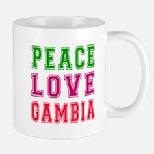 Peace Love Gambia Mug