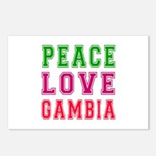 Peace Love Gambia Postcards (Package of 8)