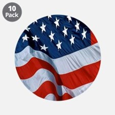 """American Flag square 3.5"""" Button (10 pack)"""