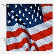 American Flag square Shower Curtain