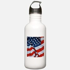 American Flag square Water Bottle