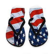 American Flag square Flip Flops