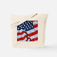American Flag square Tote Bag