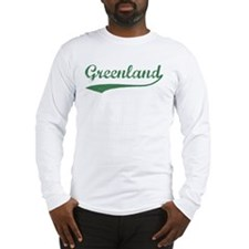 Vintage Greenland (Green) Long Sleeve T-Shirt