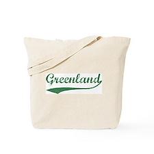 Vintage Greenland (Green) Tote Bag