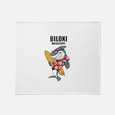 Biloxi, Mississippi Throw Blanket