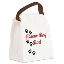 Rescue Dog Dad Canvas Lunch Bag