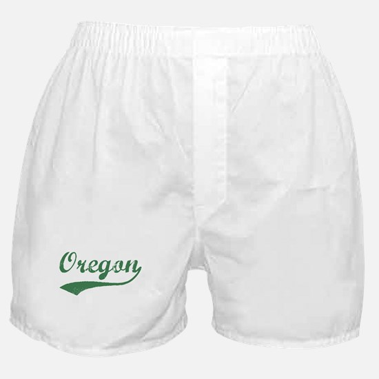 Vintage Oregon (Green) Boxer Shorts