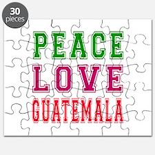 Peace Love Guatemala Puzzle