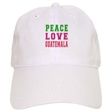 Peace Love Guatemala Baseball Cap