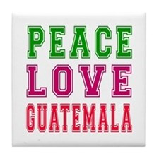 Peace Love Guatemala Tile Coaster