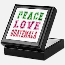 Peace Love Guatemala Keepsake Box
