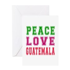 Peace Love Guatemala Greeting Card