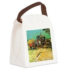 Van Gogh: Encampment of Gypsies w Canvas Lunch Bag