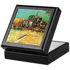 Van Gogh: Encampment of Gypsies with  Keepsake Box
