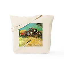 Van Gogh: Encampment of Gypsies with Cara Tote Bag