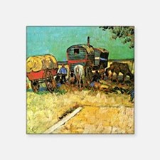 "Van Gogh: Encampment of Gyp Square Sticker 3"" x 3"""