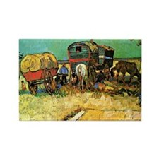 Van Gogh: Encampment of Gypsies w Rectangle Magnet