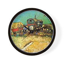 Van Gogh: Encampment of Gypsies with Ca Wall Clock