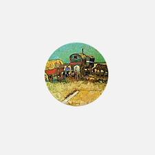 Van Gogh: Encampment of Gypsies with C Mini Button