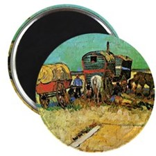 Van Gogh: Encampment of Gypsies with Carava Magnet
