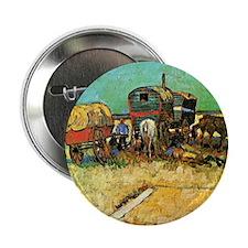 "Van Gogh: Encampment of Gypsies with  2.25"" Button"