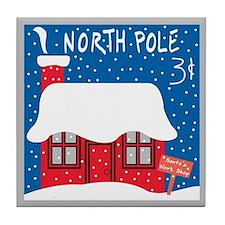 North Pole Stamp Tile Coaster