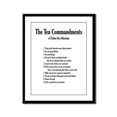 Ten Commandments of Solon (Framed Panel Print)