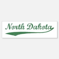 Vintage North Dakota (Green) Bumper Bumper Bumper Sticker