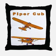 Piper Cub Throw Pillow
