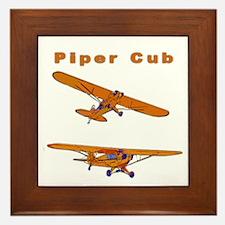 Piper Cub Framed Tile