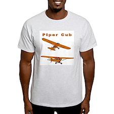 Piper Cub Ash Grey T-Shirt