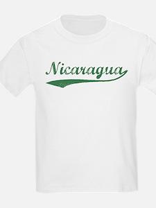Vintage Nicaragua (Green) Kids T-Shirt