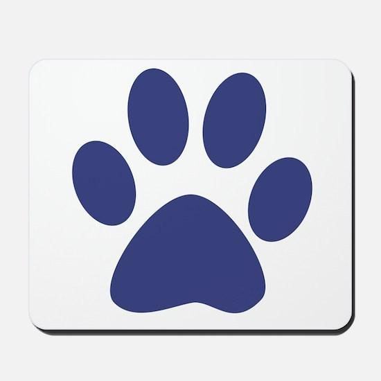 Blue Paw Print Mousepad