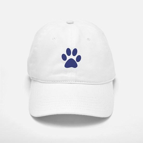 Blue Paw Print Baseball Baseball Cap