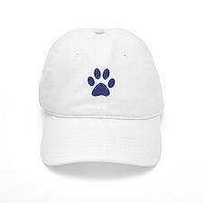 Blue Paw Print Baseball Cap