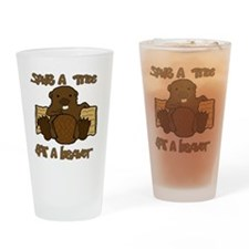 Save  A Tree - Eat A Beaver Drinking Glass