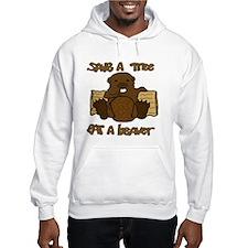 Save  A Tree - Eat A Beaver Jumper Hoody