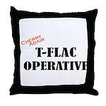 T-FLAC Operative w/Cherry Throw Pillow