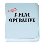 T-FLAC Operative w/Cherry baby blanket