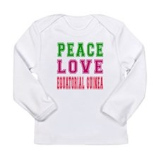 Peace Love EQUATORIAL GUINEA Long Sleeve Infant T-