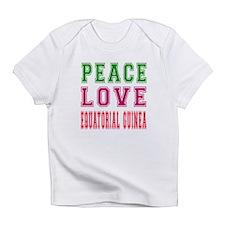 Peace Love EQUATORIAL GUINEA Infant T-Shirt