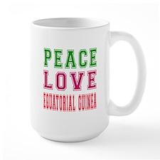Peace Love EQUATORIAL GUINEA Mug