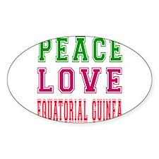 Peace Love EQUATORIAL GUINEA Decal